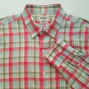 Bonobos Button Front Long Sleeve Plaid Shirt